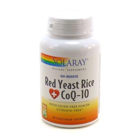 Arroz de levadura roja, más CoQ10 600 mg / 30 mg Por Solaray - 90 Cápsulas Vegetales