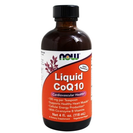 NOW Foods - Liquid CoQ10 100 mg por cucharadita 100 mg. - 4 onzas.