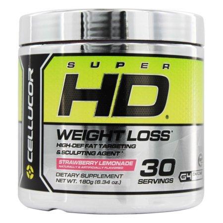 CELLUCOR - Pérdida de Peso Super HD limonada de fresa 30 Porciones - 180 gramos
