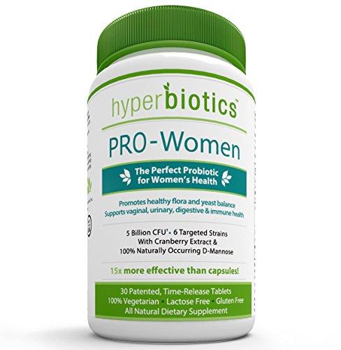 FAVOR de las mujeres: Probióticos para las mujeres con extracto de arándano y 100% natural D-manosa - 15 x más efectiva que cápsulas con tecnología de entrega patentada - 30 una vez comprimidos liberación de tiempo diario