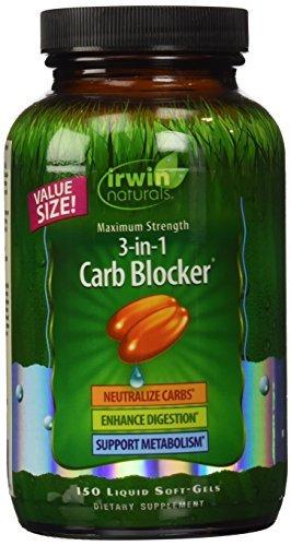 Irwin Naturals fuerza máxima 3 en 1 Carb Blocker economía dieta suplemento, cuenta 150