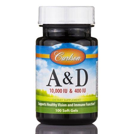 Las vitaminas A y D 10000 IU y 400 IU Carlson Laboratories 100 Softgel