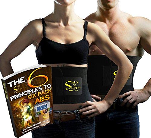 Neopreno cinturón Ab Trimmer la pérdida de peso para las mujeres de los hombres, ya más amplias - bono Ebook con consejos y secretos para Abs de Six Pack (9 x 45 pulg.)