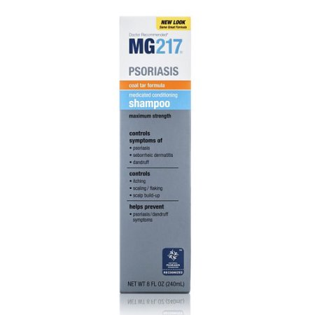 2 Paquete  Psoriasis Medicated acondicionado de alquitrán de hulla Fórmula Shampoo 8 FL OZ