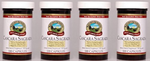 Naturessunshine cáscara Sagrada sistema Intestinal ayuda suplemento dietético herbario 390 mg 100 cápsulas (paquete de 4)