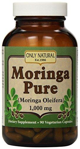 Únicamente Moringa Natural puro (paquete de 1) vegetariana - 1000 mg - 90 cápsulas