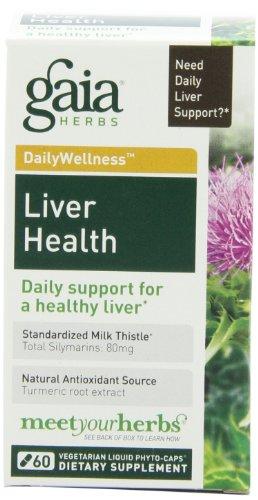 Hierbas de Gaia salud del hígado, Fito líquidos 60 cápsulas