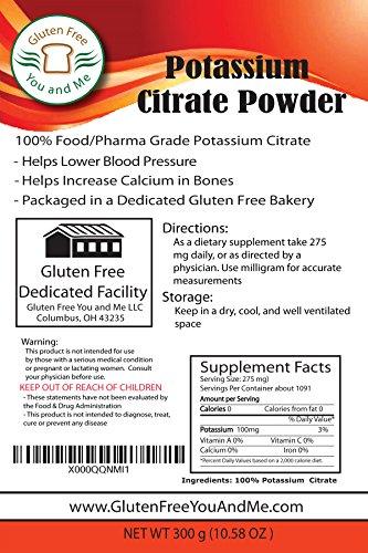 A granel polvo de citrato de potasio (300grams / 10.6 oz)