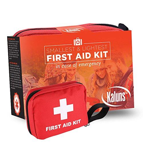 """Kit de primeros auxilios, """"Más pequeño y más ligero"""" con 106 artículos esenciales, Kit de supervivencia del coche, para la atención médica de emergencia, completo Kit ideal para casa oficina escuela coche mochila y el viaje, campamento de primeros auxilio"""