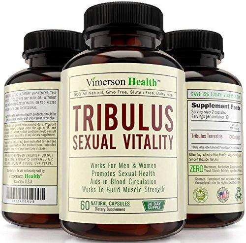 Tribulus Terrestris de la vitalidad Sexual de los hombres y las mujeres. Potenciador natural la libido y la testosterona. Aumenta energía, Stamina, fuerza, Libido. Suplemento de metabolismo que construye músculo rápido