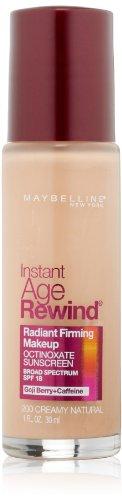 Maybelline New York instantánea edad rebobinado reafirmante radiante maquillaje, 200 Natural cremoso, 1 onza líquida