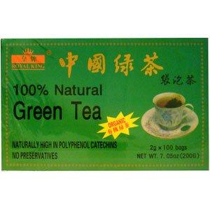 Té verde orgánico de Royal King - 100 bolsas