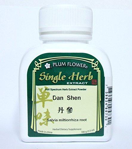 Polvo del extracto de salvia Miltiorrhiza raíz hierba / Dan Shen, 100g o 3.5oz