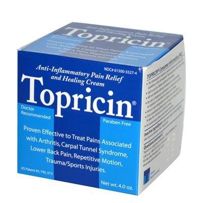 Alivio del dolor de Topricin crema 4 Oz, 3 Pack