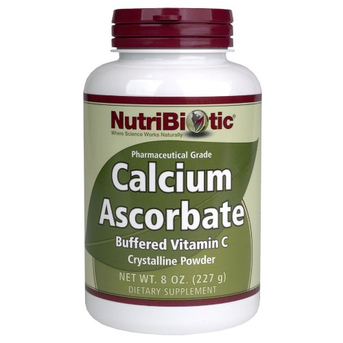 Polvo de ascorbato de calcio Nutribiotic, 8 Oz