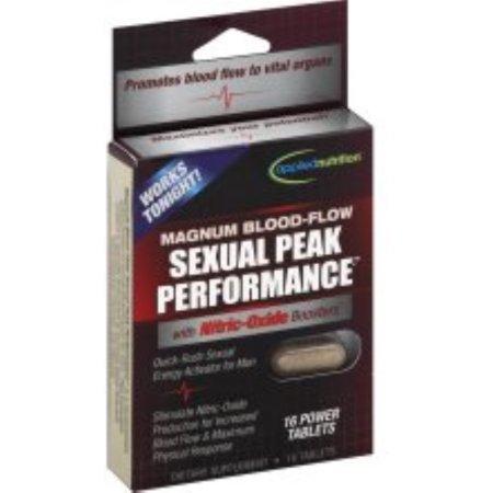 6 Pack - APPLIED NUTRITION Alto Rendimiento Sexual, Magnum flujo de sangre, tabletas de potencia 16 ea