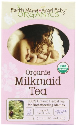 Bebé del ángel mamá tierra lechera orgánica enfermería té, 16 bolsitas de té/caja (Pack de 3)