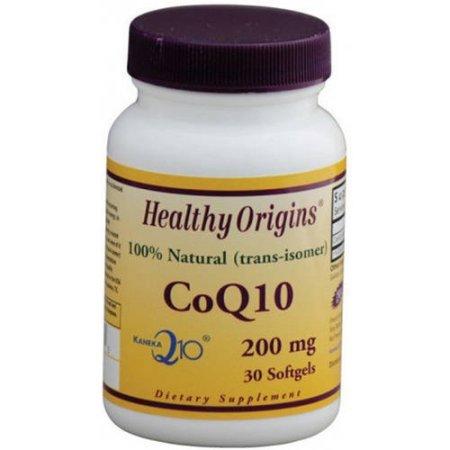 Healthy Origins CoQ10, Kaneka Q10, 100% natural, 200 mg, 30 CT