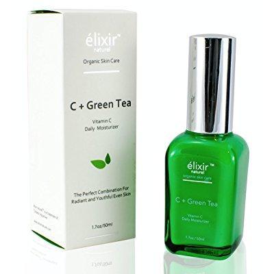 e té humectante diario verde  vitamina c - para la cara - paraben orgánico libre contra el envejecimiento fórmula - mejor cre