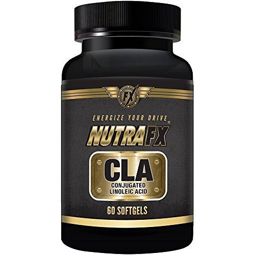 FUERZA TRIPLE Nutrafx CLA claro cápsulas | 1000 mg alta potencia | DE aceite puro de cártamo por cápsula | 60 cápsulas el mejor suplemento para gestión de peso