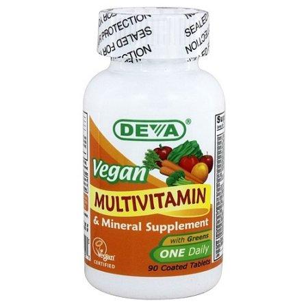 Deva Vegan Un diario de multivitaminas y minerales tabletas 90 Ct