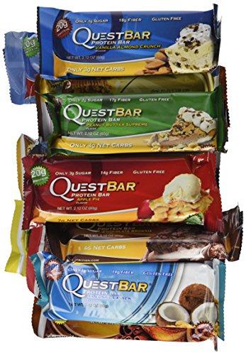 Búsqueda de barras libres de Gluten de alto valor proteico, paquete de la variedad Original, 12