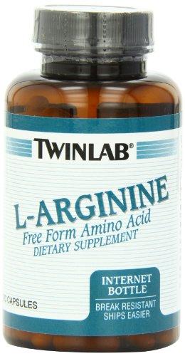 Twinlab L-Arginina 500mg cápsulas, 120 cuenta