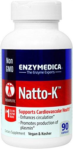 Enzymedica - Natto-K, apoya la Salud Cardiovascular, 90 cápsulas