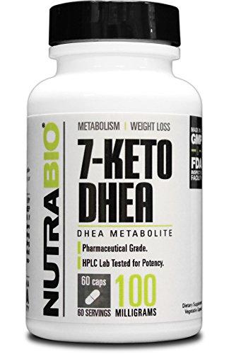NutraBio 7-KETO DHEA 100mg - 60 cápsulas vegetales