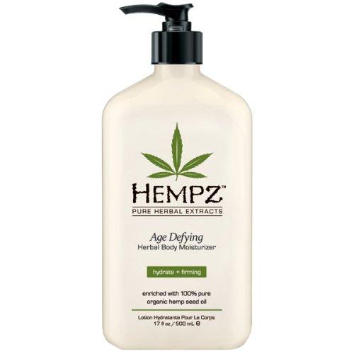 Hempz edad desafiando corporal Herbal humectante, blanco, vainilla/almizcle, 17 onzas de líquido