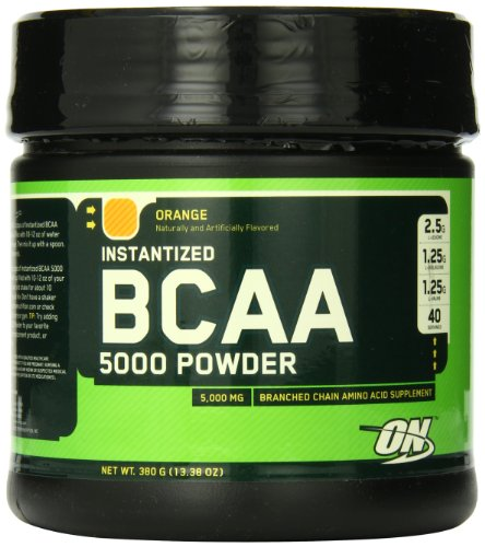 La nutrición óptima hecho instantáneo BCAA en polvo, naranja, 5000 mg, 380 gramos