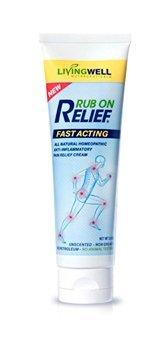 RUB en Relief® ⋆ #1 clínicamente probado analgésicas ingredientes ⋆ alivio de dolor rápido, todo-natural crema y antiinflamatoria [3 onzas] ⋆ No las toxinas dañosas ⋆ más duradero ⋆ olor agradable ⋆ 100% garantía de devolución!