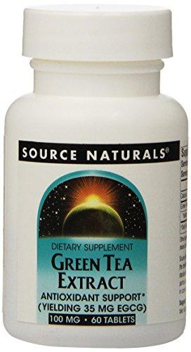 Extracto de té verde de Source Naturals 100mg, 60 comprimidos