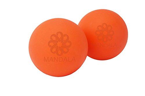 Mandala el Yoga masaje mejor gatillo punto bola, liberación miofascial, terapias de Yoga, Yin Yoga, bola de masaje Prenatal, mejor para aliviar el estrés y garantía de por vida los músculos relajarse apretado conjunto de 2