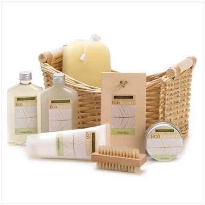 Koehler Eco Balance limoncillo eucalipto belleza baño Essentials Spa colecciones Body Wash loción crema exfoliante cesta caja
