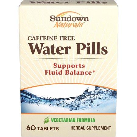 Sundown Naturals píldoras de agua natural suplemento herbario, 60 unidades
