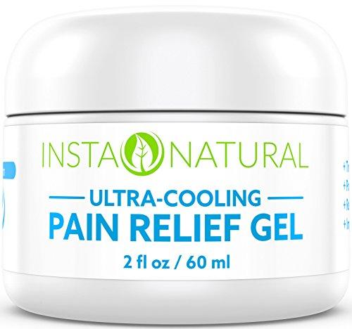 Alivio de dolor de InstaNatural crema con mentol y árnica - mejor enfriamiento Gel medicamento para la espalda, rodillas, codos, los músculos, artritis y más - de gran alcance Anti inflamatorio tratamiento duradero alivio - 2 OZ