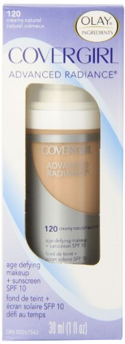 CoverGirl Advanced Radiance maquillaje líquido, 120 Natural cremoso, 1,0 onzas