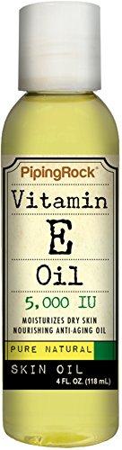 Vitamina E piel Natural puro aceite 5000 IU - 4 onzas 4 onzas líquido
