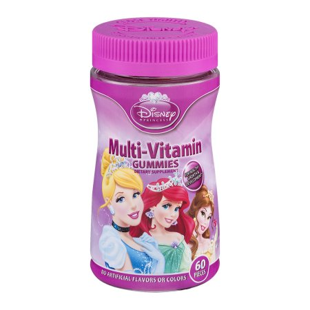 Disney princesa MultiVitaminicos Gummies- 60 PCS 600 PIEZA (S)