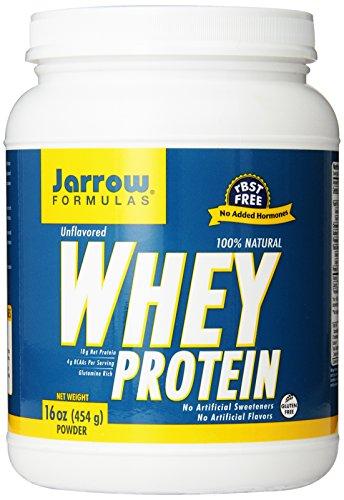 Jarrow fórmulas de proteína de suero, apoya el desarrollo muscular, sin sabor, 454 g