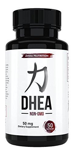 Suplemento de 50mg DHEA para promover niveles de la hormona equilibrada para hombres y mujeres - pico de restaurar los niveles de DHEA a mirar y sentir a más joven - fórmula de no-GMO - Made in USA - garantizado completo potencia y pureza