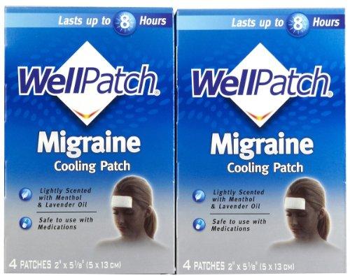 WellPatch migraña dolor de cabeza cojines - 4ct de enfriamiento