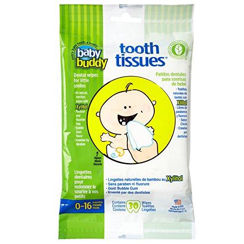 Amigo diente los tejidos dentales toallitas de bebé, chicle blanco (paquete de 60)