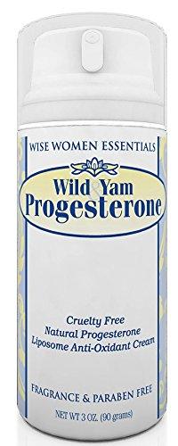 Crema de progesterona Natural sabio Essentials con ñame silvestre para mediana edad no Balance 3 OZ bomba olor