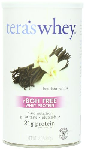RBGH de suero de Tera libre proteína de suero de vainilla Bourbon, 12 onzas