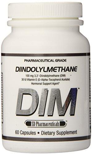 SD productos farmacéuticos Dim diindolilmetano apoyo Hormonal cápsulas, cuenta 60