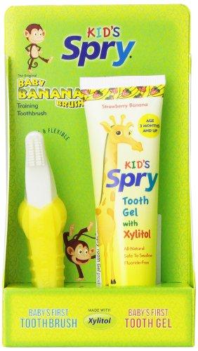 Cepillo de bebé plátano y diente Gel Combo Pack