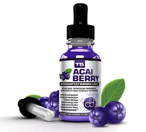 Biogen salud ciencia T5 Acai Berry suero: Fuerza máxima antioxidante Fat Burner - acción rápida pérdida de peso y desintoxicación (suministro de 1 mes)