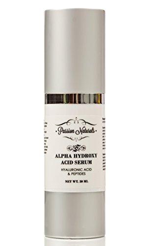 Mejor crema facial de noche para tono de piel desigual de líneas finas de arrugas - con péptidos de ácido láctico ácido glicólico ácido hialurónico y la fruta extractos - L-arginina - pasión productos naturales alfa hidroxi ácido sérico